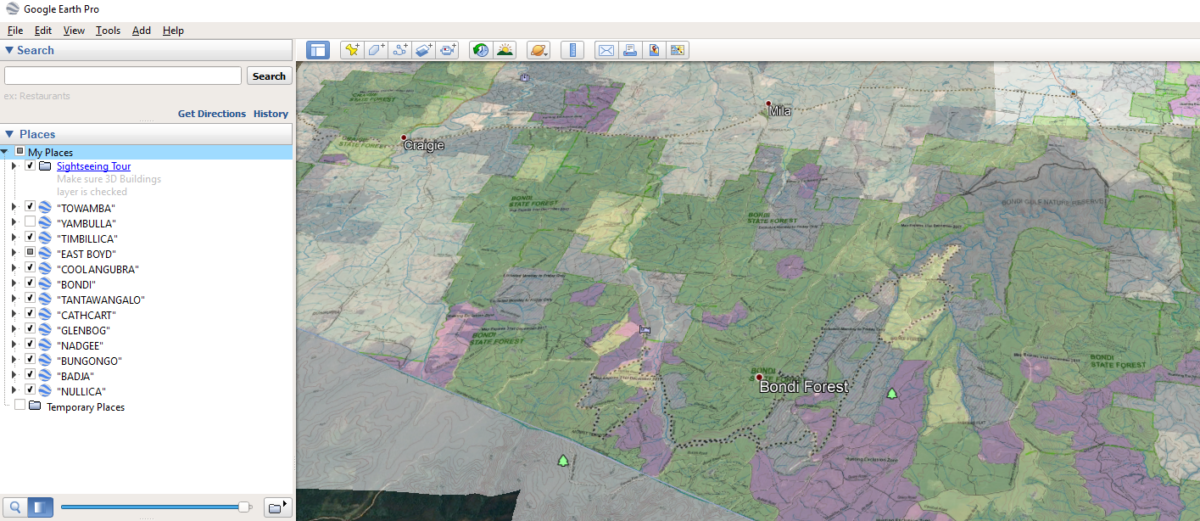 How to use Google Earth to find NSW State Forest Hunting Spots - NSW